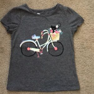 Girls 6X gray shirt